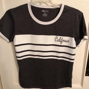 California On Fire brand T-shirt gray XL